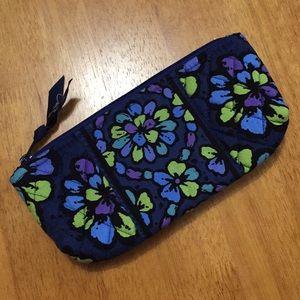Vera Bradley Brush and Pencil Case Bag Indigo Pop
